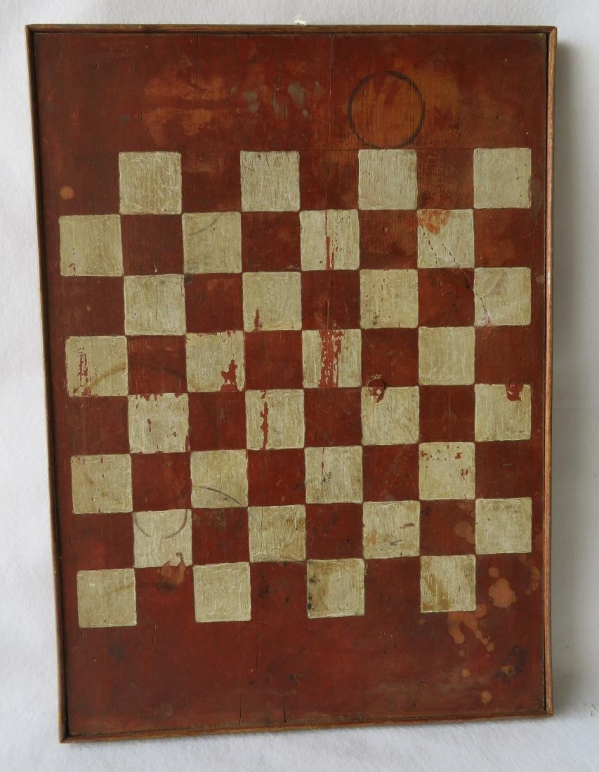 American game board with red and white squares with a