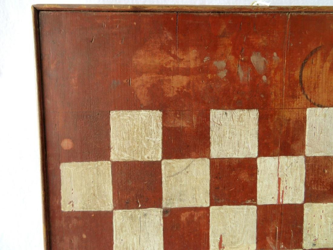 American game board with red and white squares with a - 2
