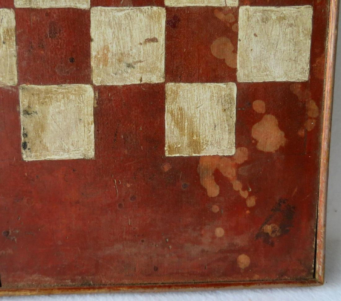 American game board with red and white squares with a - 3