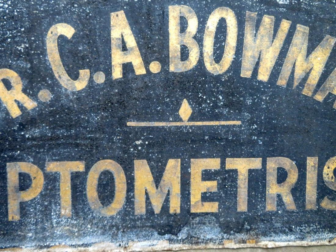 "Three signs for ""Dr. C.A. Bowman - Optometrist"", - 3"