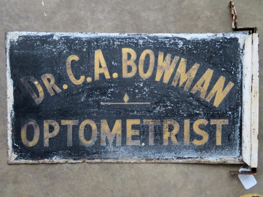 "Three signs for ""Dr. C.A. Bowman - Optometrist"", - 4"