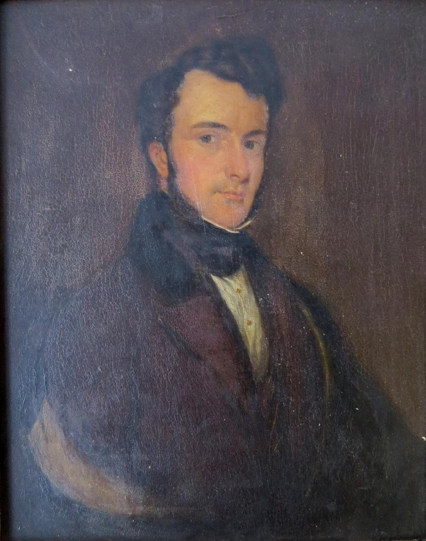 Oil on panel portrait of an English gentleman - some - 2