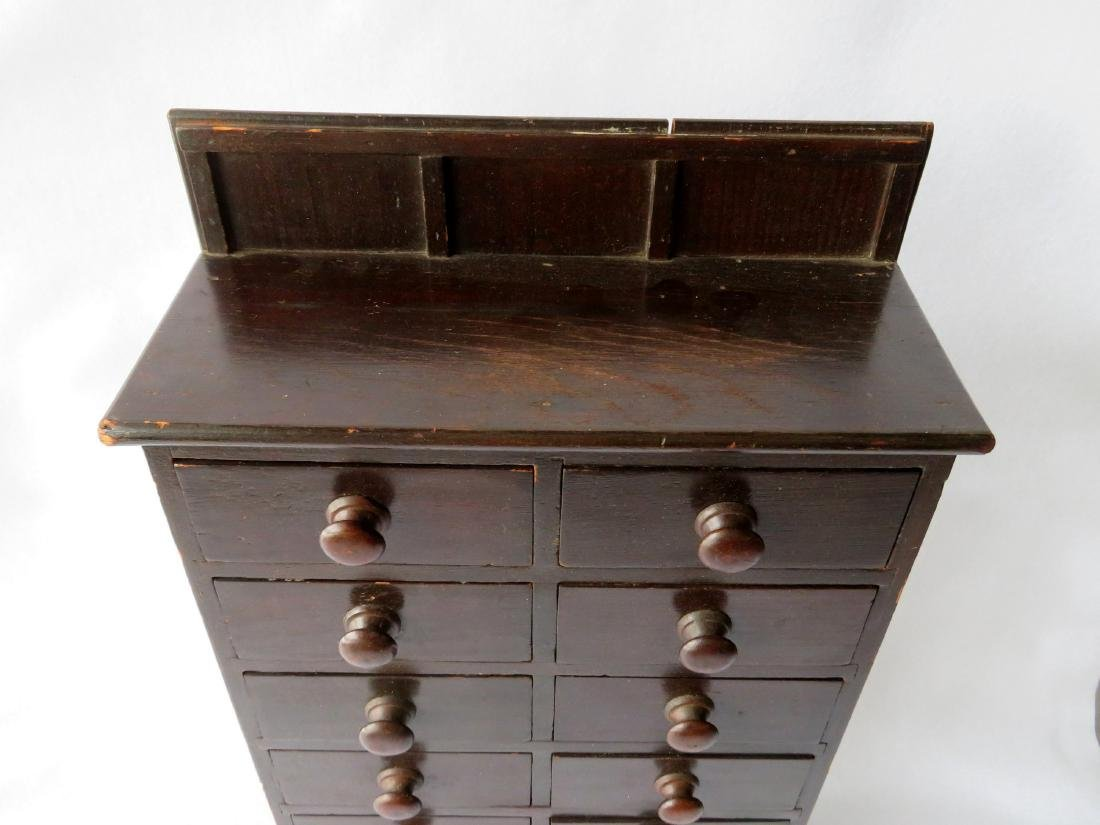 Outstanding table top apothecary chest having 12 - 2