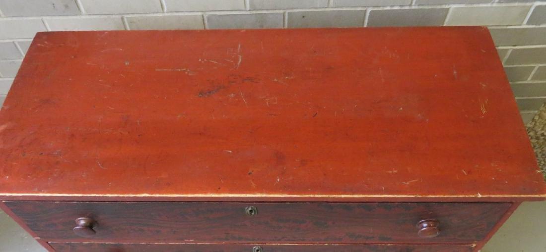 Hepplewhite grain painted chest of drawers, New - 2