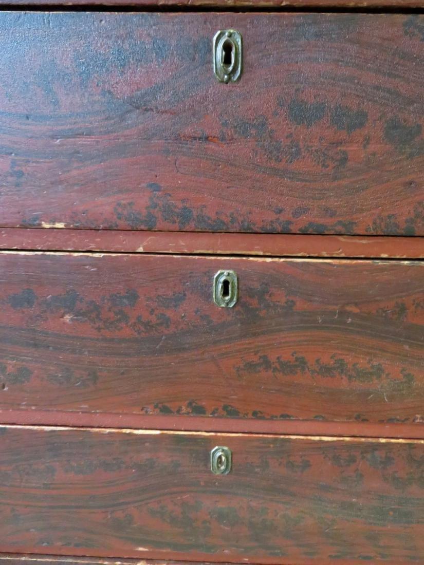 Hepplewhite grain painted chest of drawers, New - 4