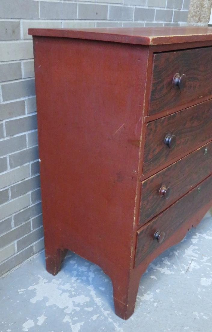 Hepplewhite grain painted chest of drawers, New - 5