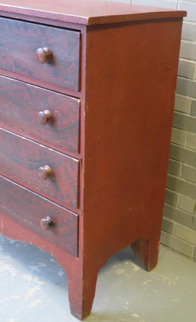 Hepplewhite grain painted chest of drawers, New - 6