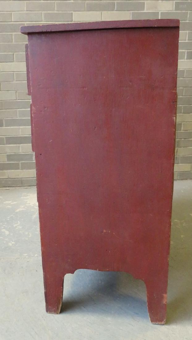 Hepplewhite grain painted chest of drawers, New - 9