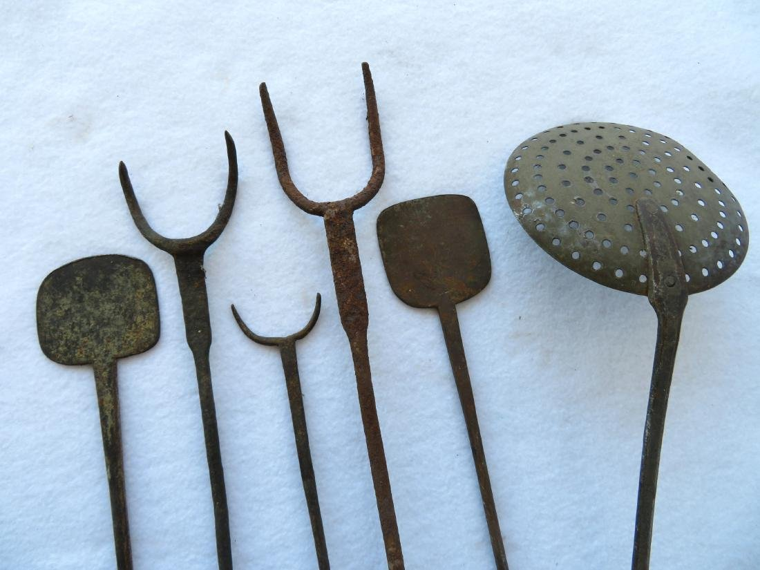 Grouping of Hudson Valley Dutch hand forged iron - 3