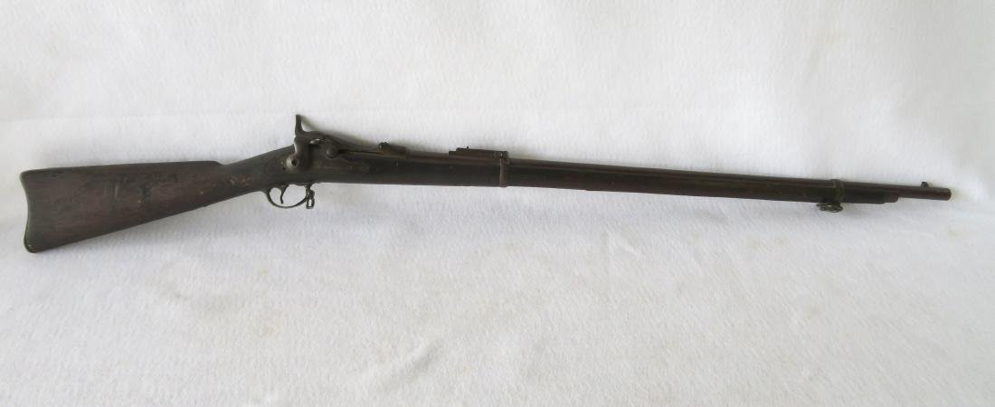 US Springfield Model 1878 trapdoor rifle.  Serial