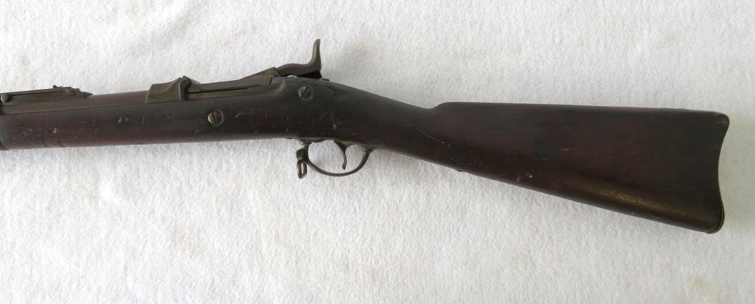 US Springfield Model 1878 trapdoor rifle.  Serial - 6