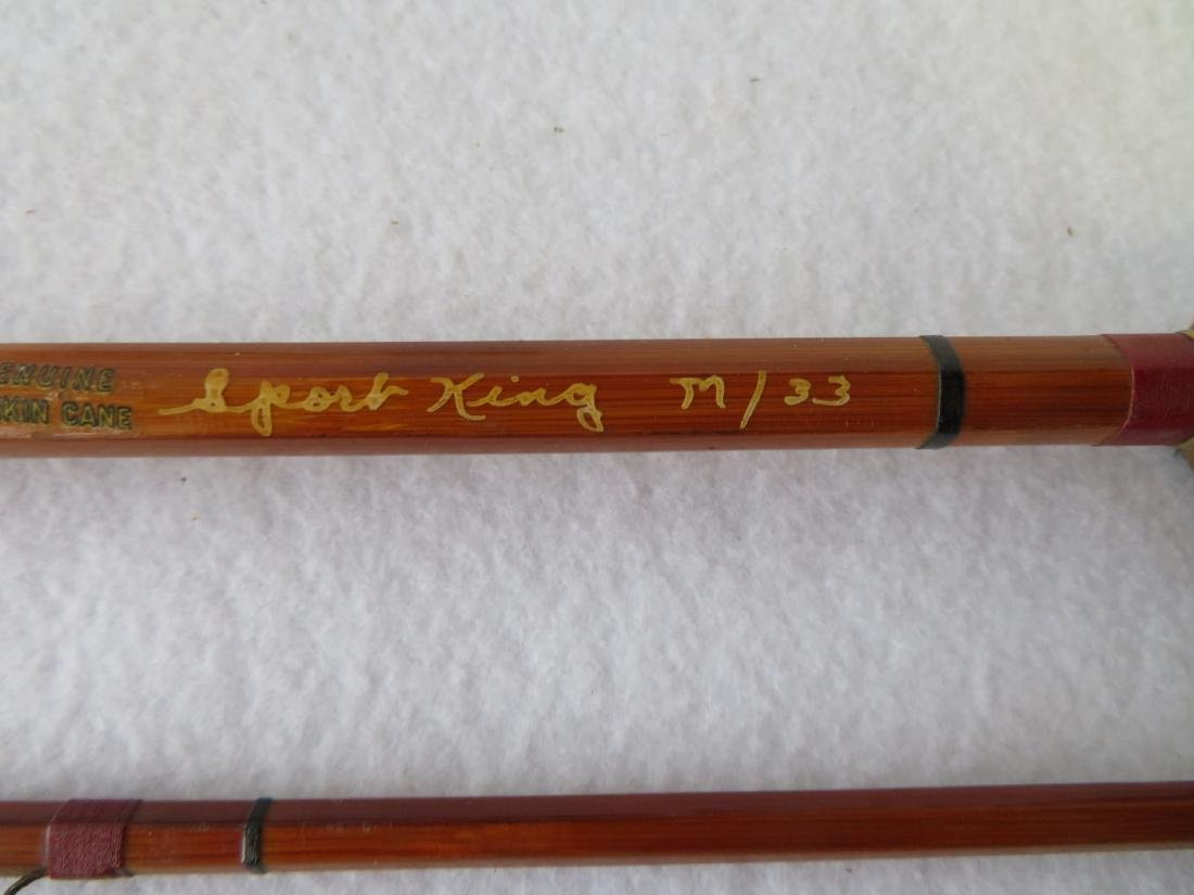 Three split bamboo fly rods: 1) Signed Sport King M/33 - 10