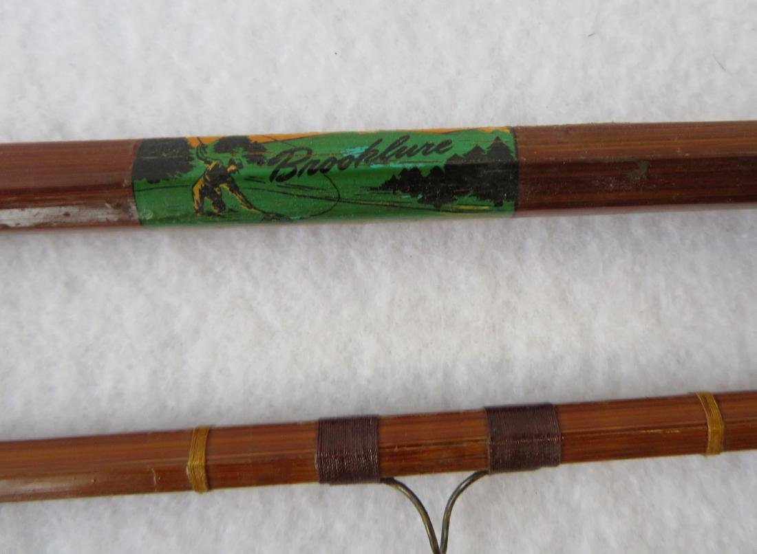 Three split bamboo fly rods: 1) Signed Sport King M/33 - 4