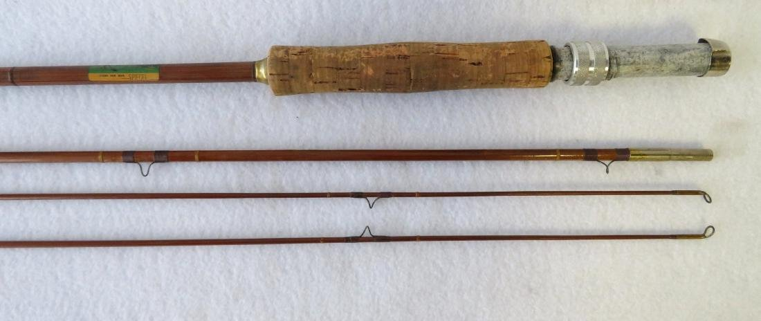 Three split bamboo fly rods: 1) Signed Sport King M/33 - 5