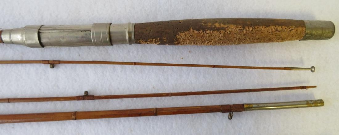 Three split bamboo fly rods: 1) Signed Sport King M/33 - 8