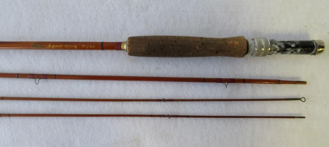 Three split bamboo fly rods: 1) Signed Sport King M/33 - 9