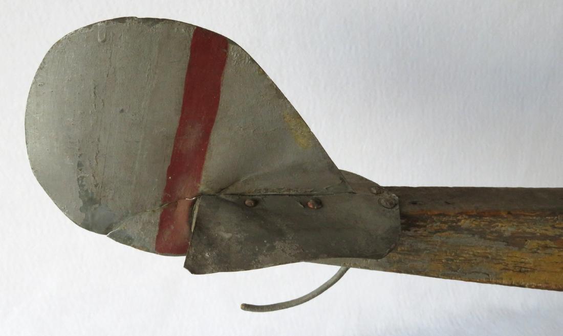 Primitive folk art wooden biplane weathervane (similar - 4