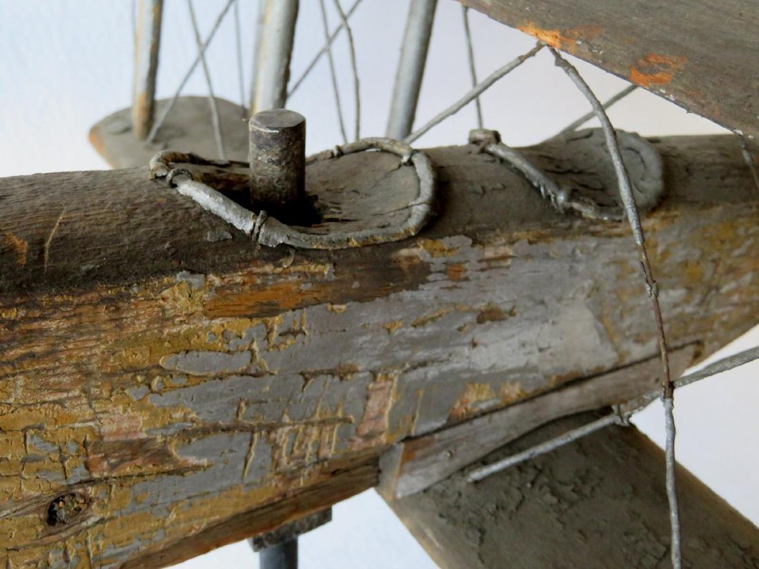 Primitive folk art wooden biplane weathervane (similar - 5