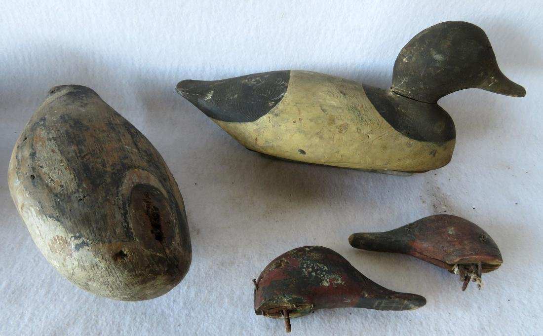 Grouping of 8 primitive decoys, most with some wear - 4