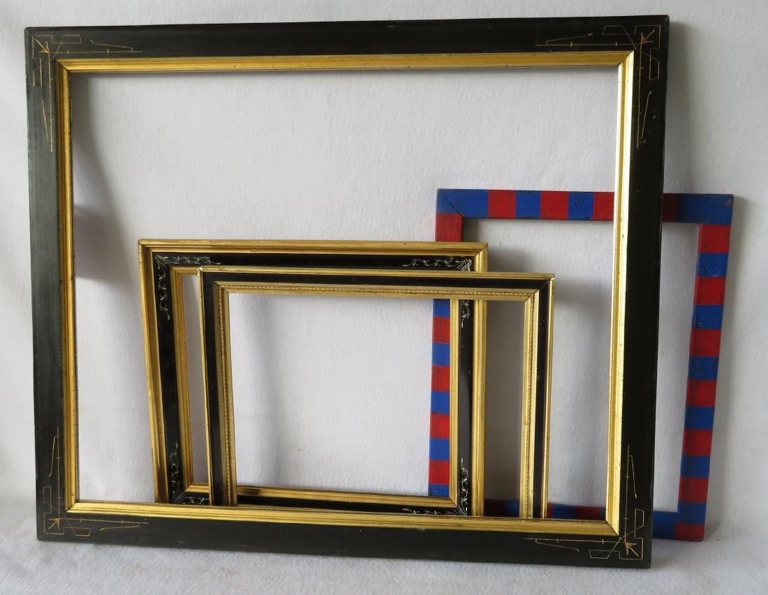 Grouping of 8 vintage frames including 4 lemon gold, 3 - 2