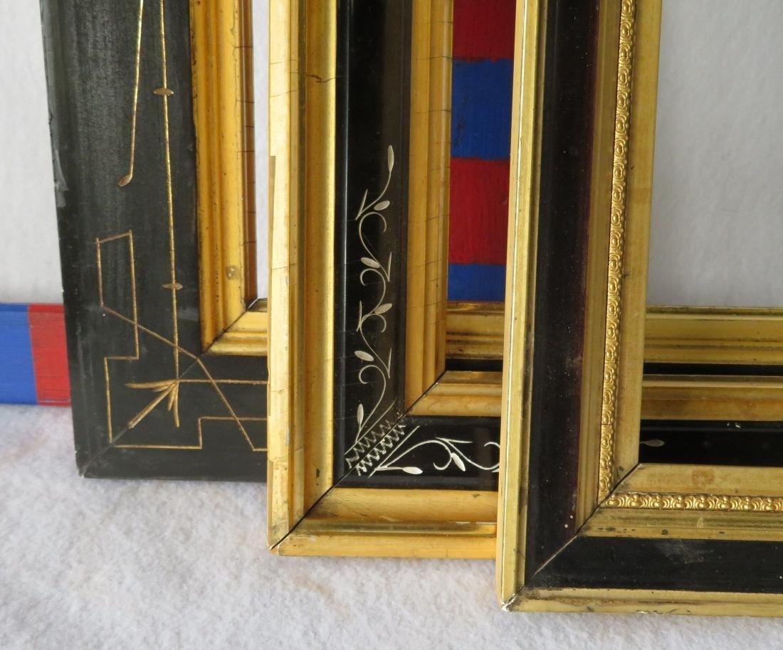 Grouping of 8 vintage frames including 4 lemon gold, 3 - 3