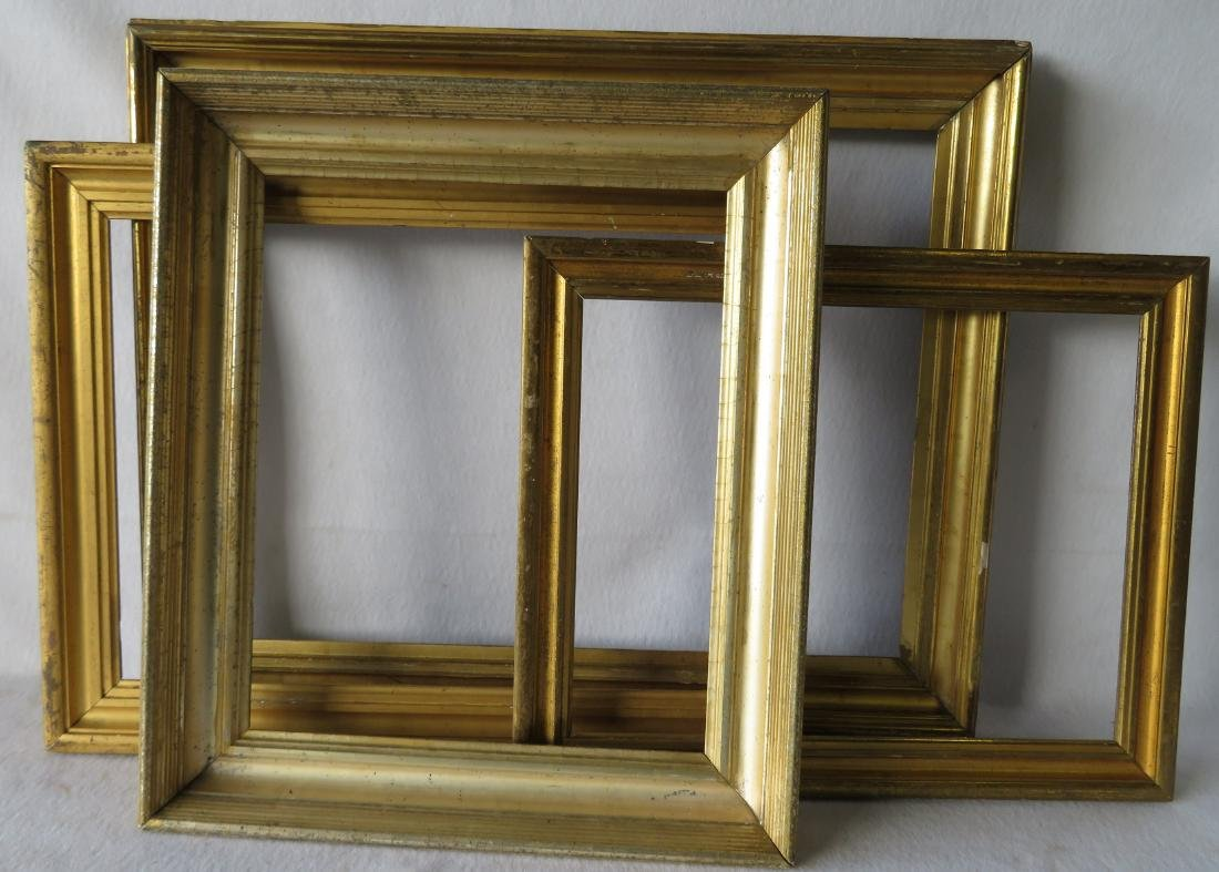 Grouping of 8 vintage frames including 4 lemon gold, 3 - 4