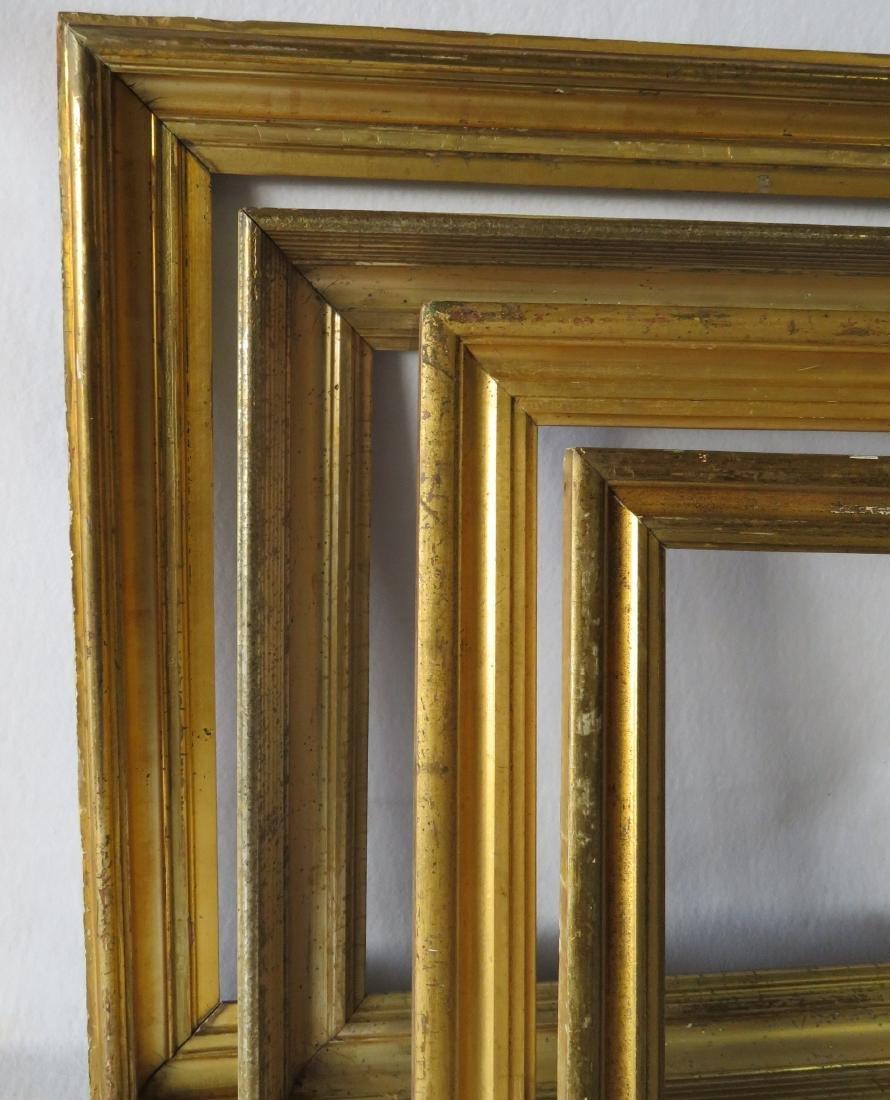 Grouping of 8 vintage frames including 4 lemon gold, 3 - 5