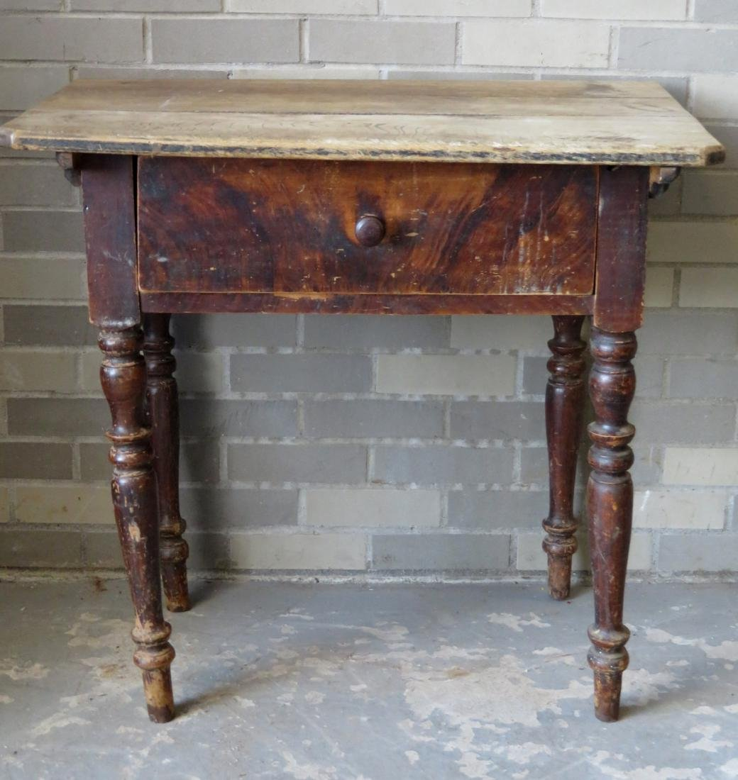 Pennsylvania grain painted work table with center