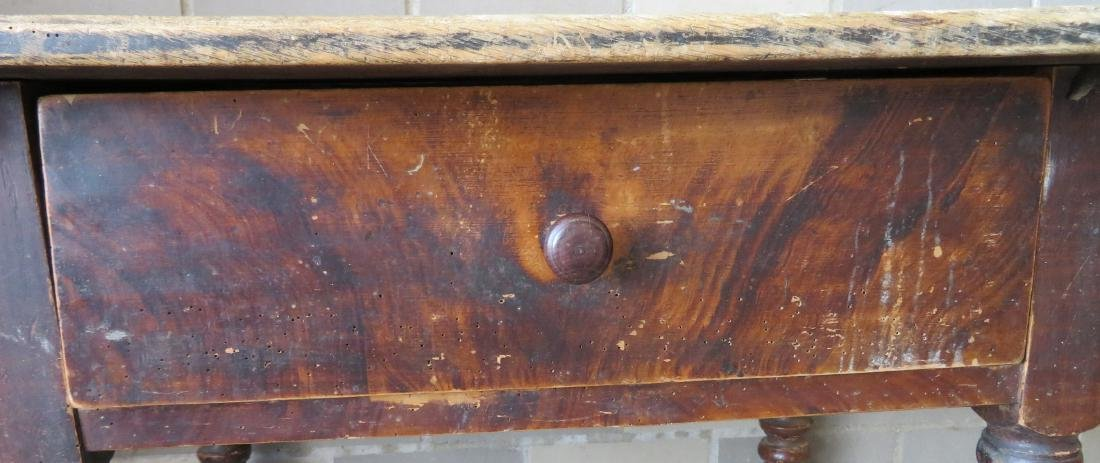 Pennsylvania grain painted work table with center - 2