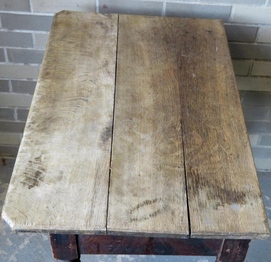 Pennsylvania grain painted work table with center - 4