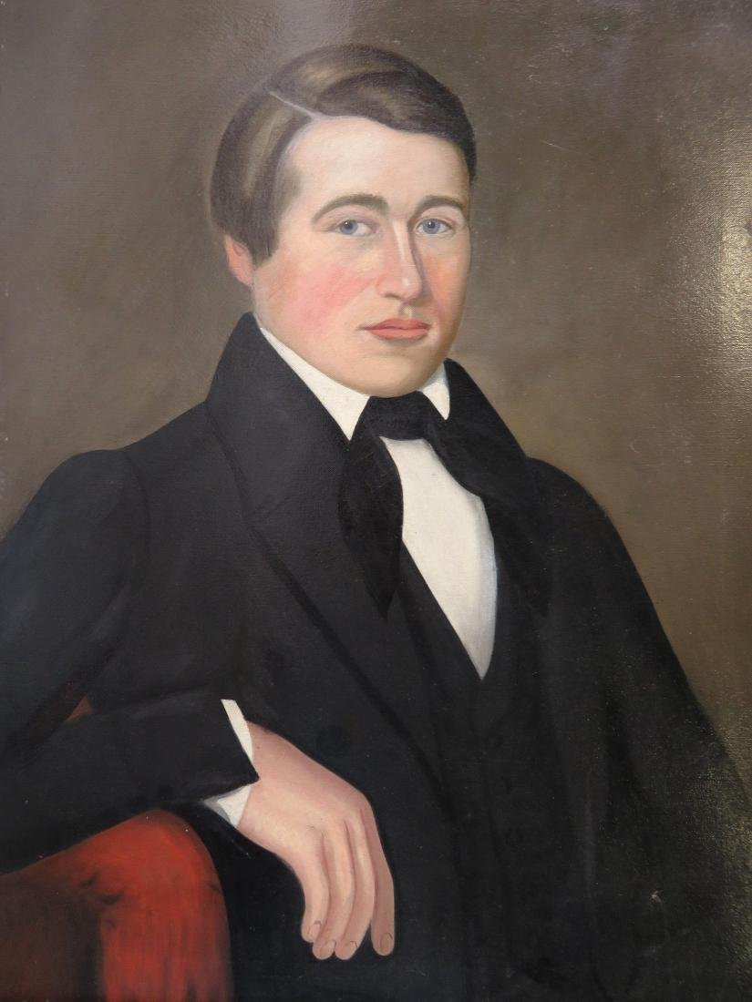 Large early portrait of a stately young man, early 19th - 2