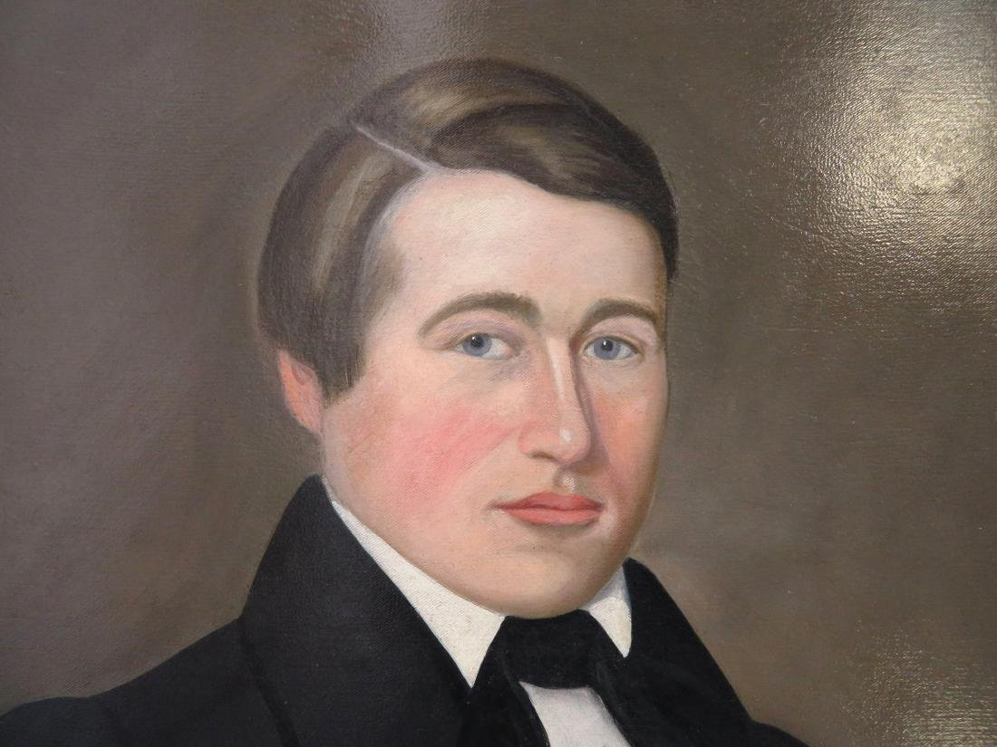 Large early portrait of a stately young man, early 19th - 3