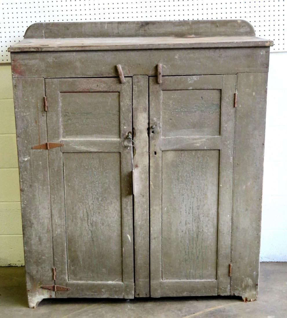 Hudson Valley cupboard having 2 paneled doors, original