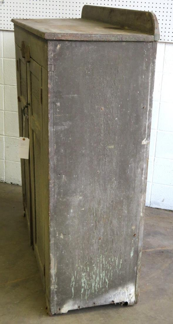 Hudson Valley cupboard having 2 paneled doors, original - 6