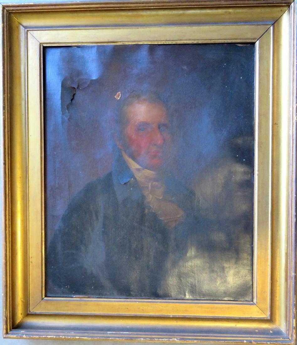 O/C Portrait of a gentleman in original lemon gold