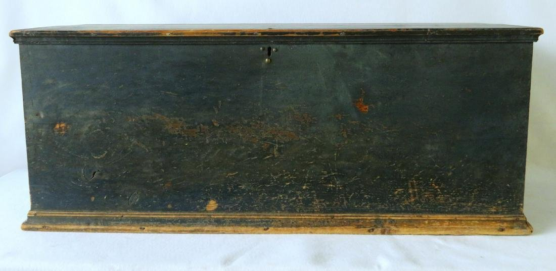 Hudson Valley blanket box in original blue paint with