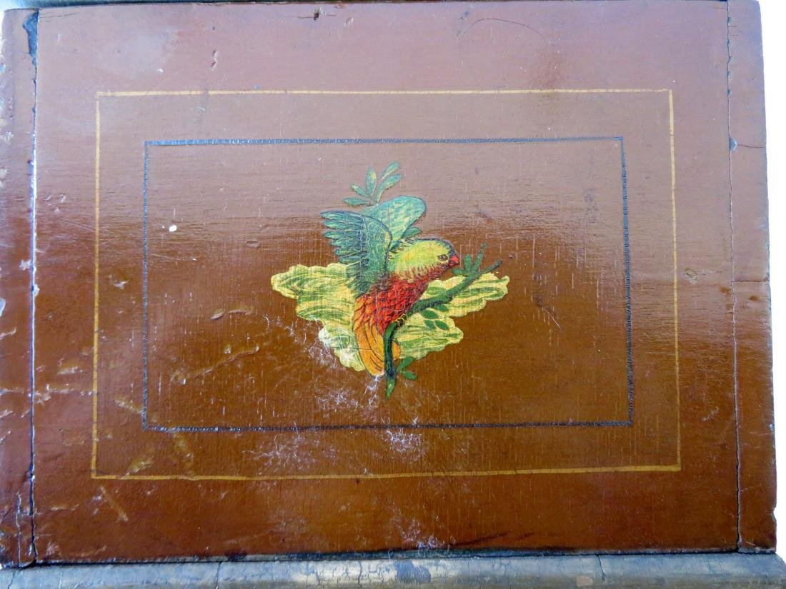 Small hand painted document box with portrait of Indian - 6