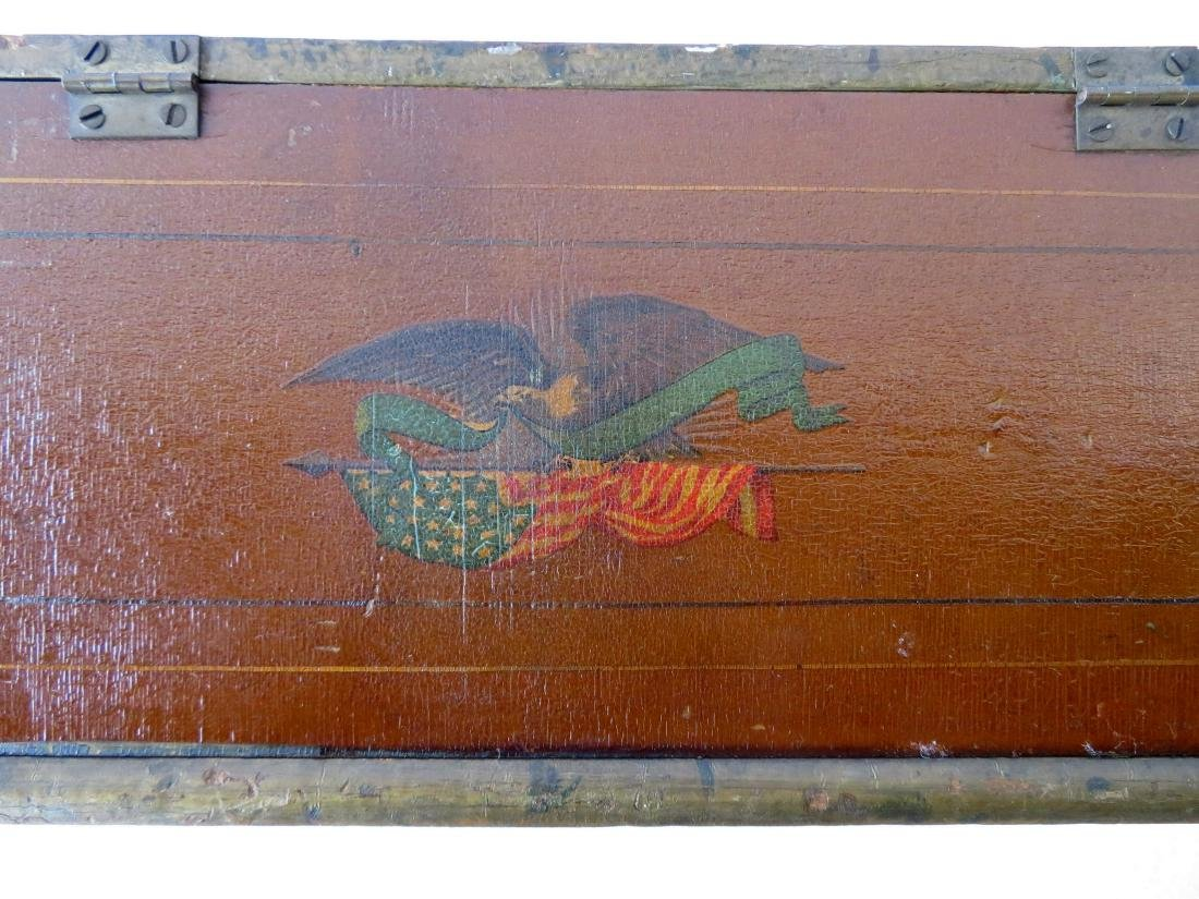 Small hand painted document box with portrait of Indian - 7