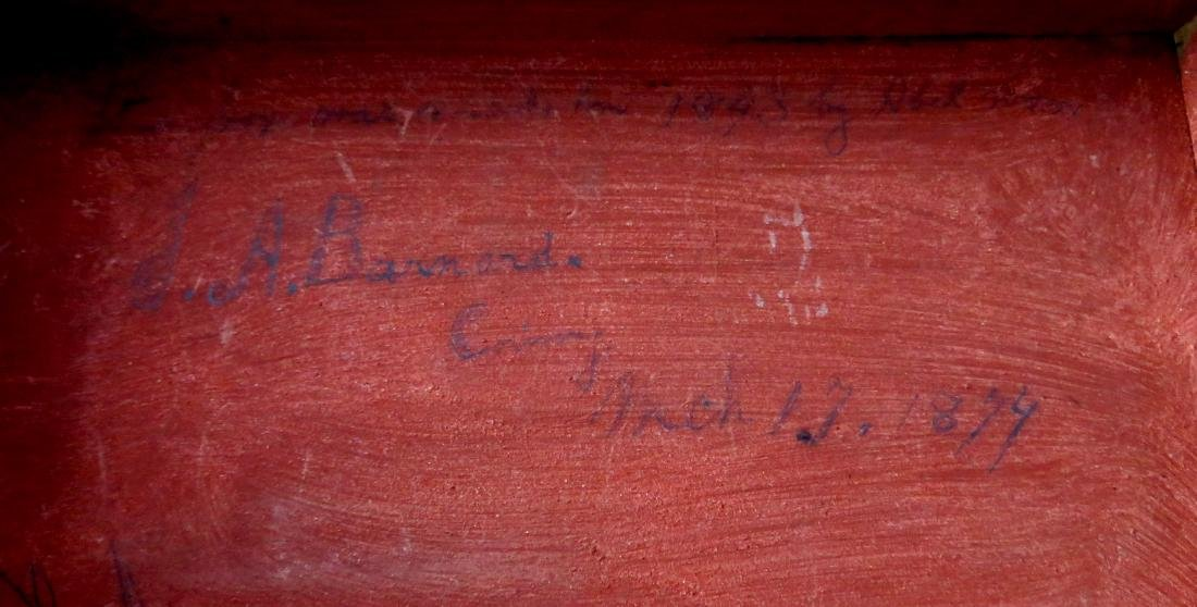 Early document box in original red paint signed on - 5