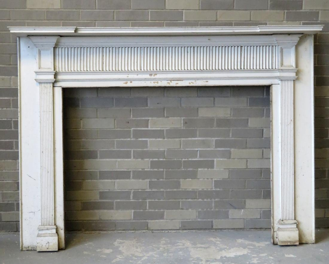 Federal fireplace mantle with fluted and paneled front