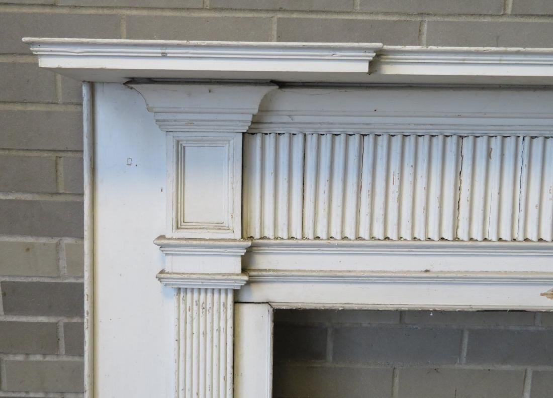 Federal fireplace mantle with fluted and paneled front - 2