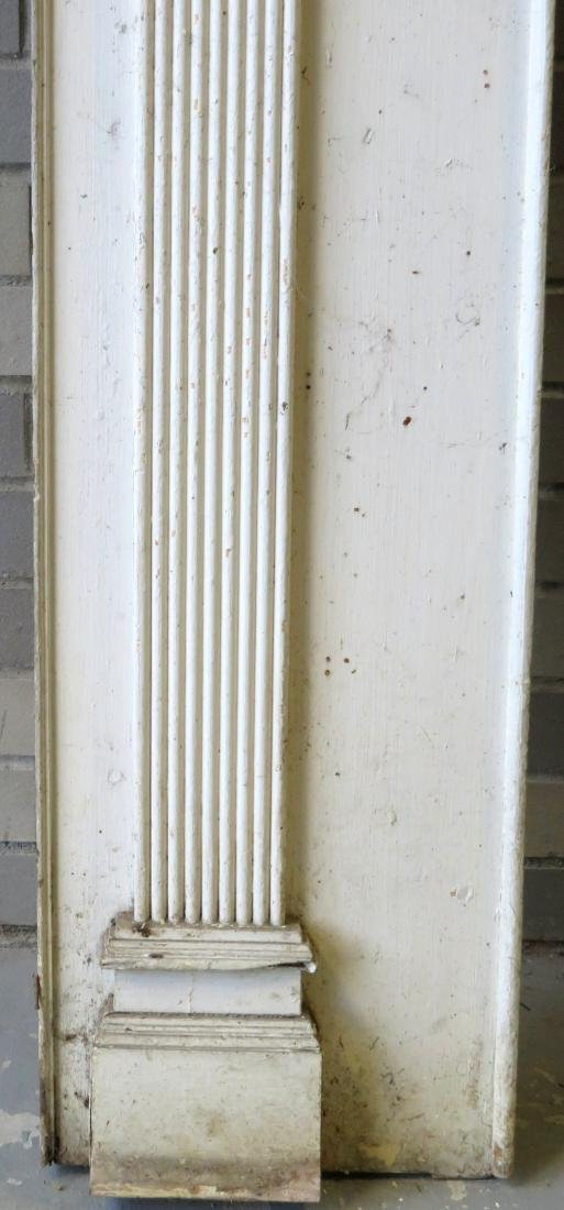 Federal fireplace mantle with fluted and paneled front - 3