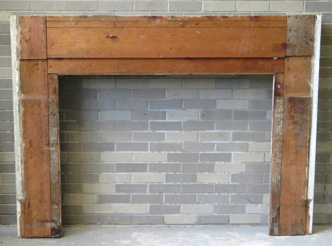Federal fireplace mantle with fluted and paneled front - 4
