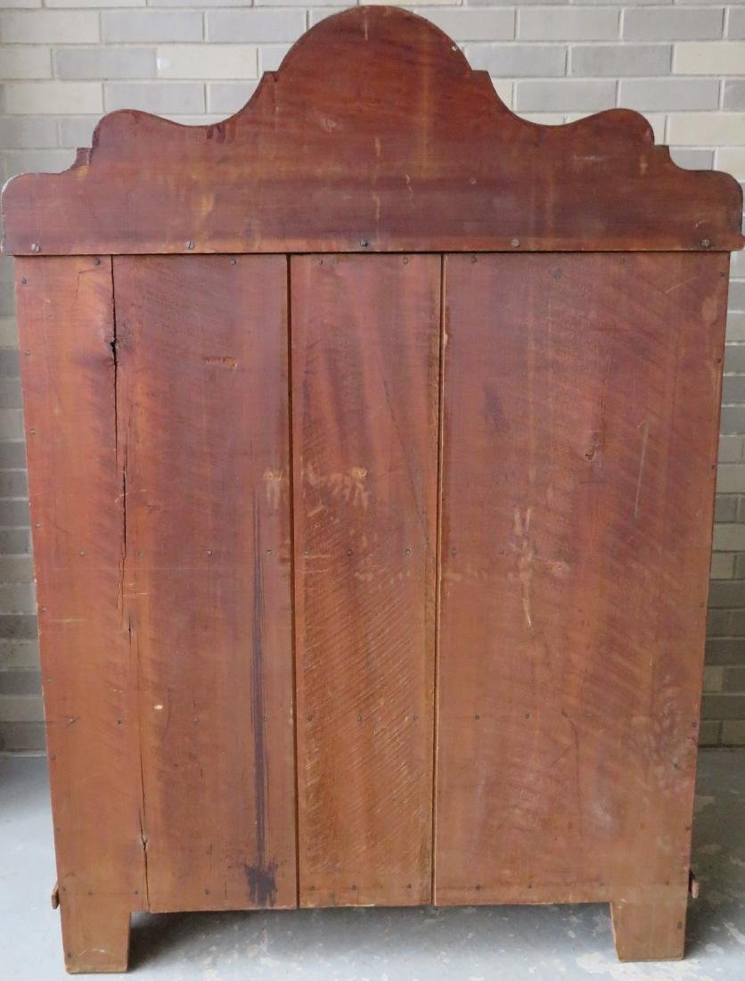 Grain painted jelly cupboard having a shaped - 5