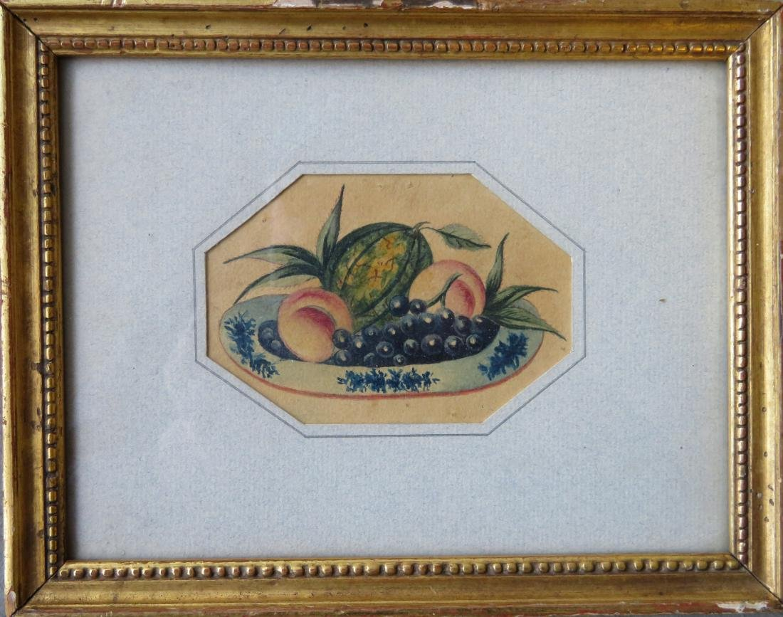 Miniature W/C Theorem of fruit in bowl. Appears to be