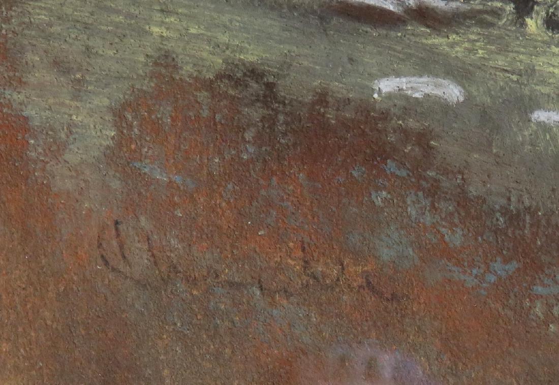 Pastel Hudson River landscape signed Chandler (William - 3