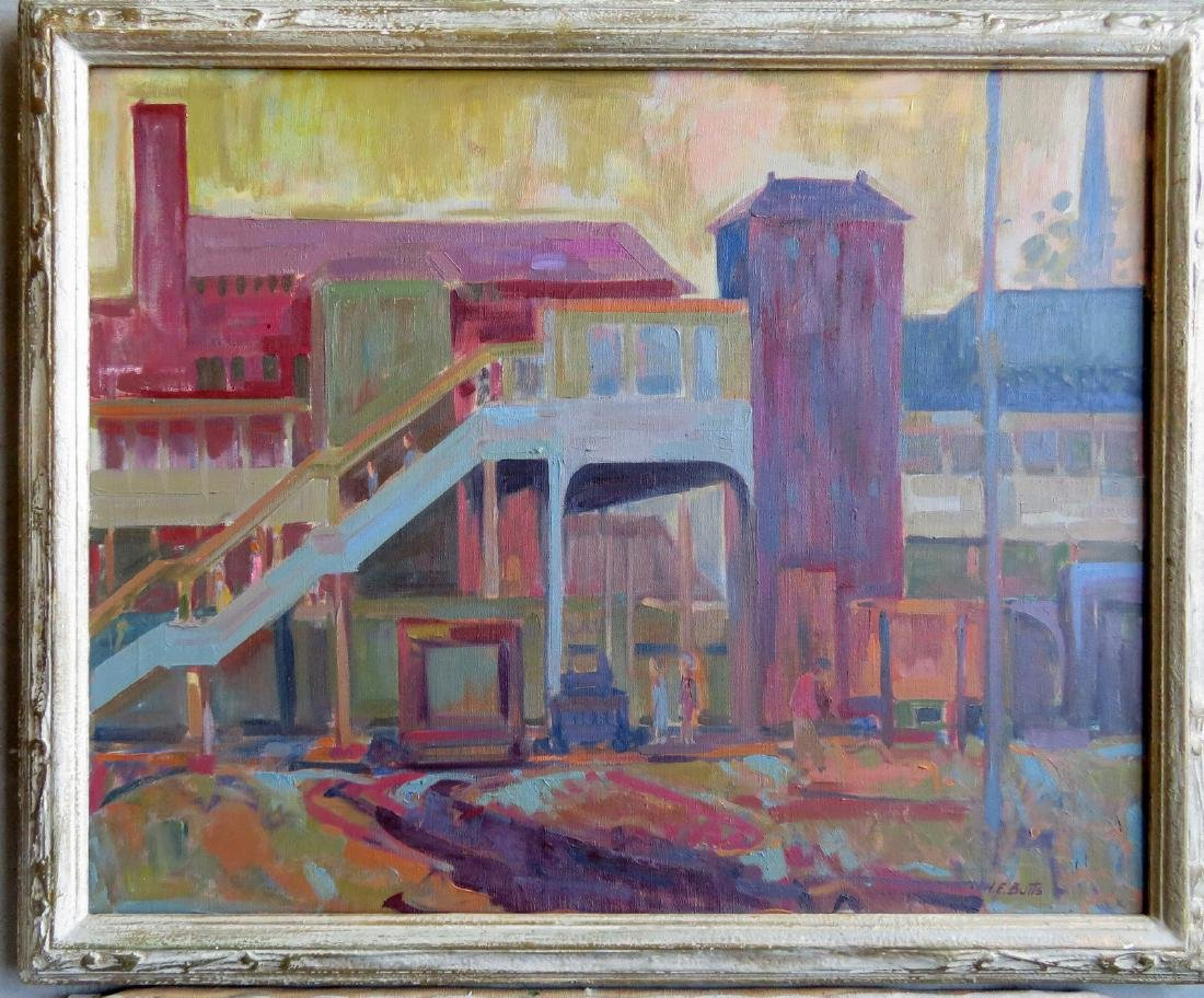 Two Poughkeepsie NY impressionist paintings signed by - 2