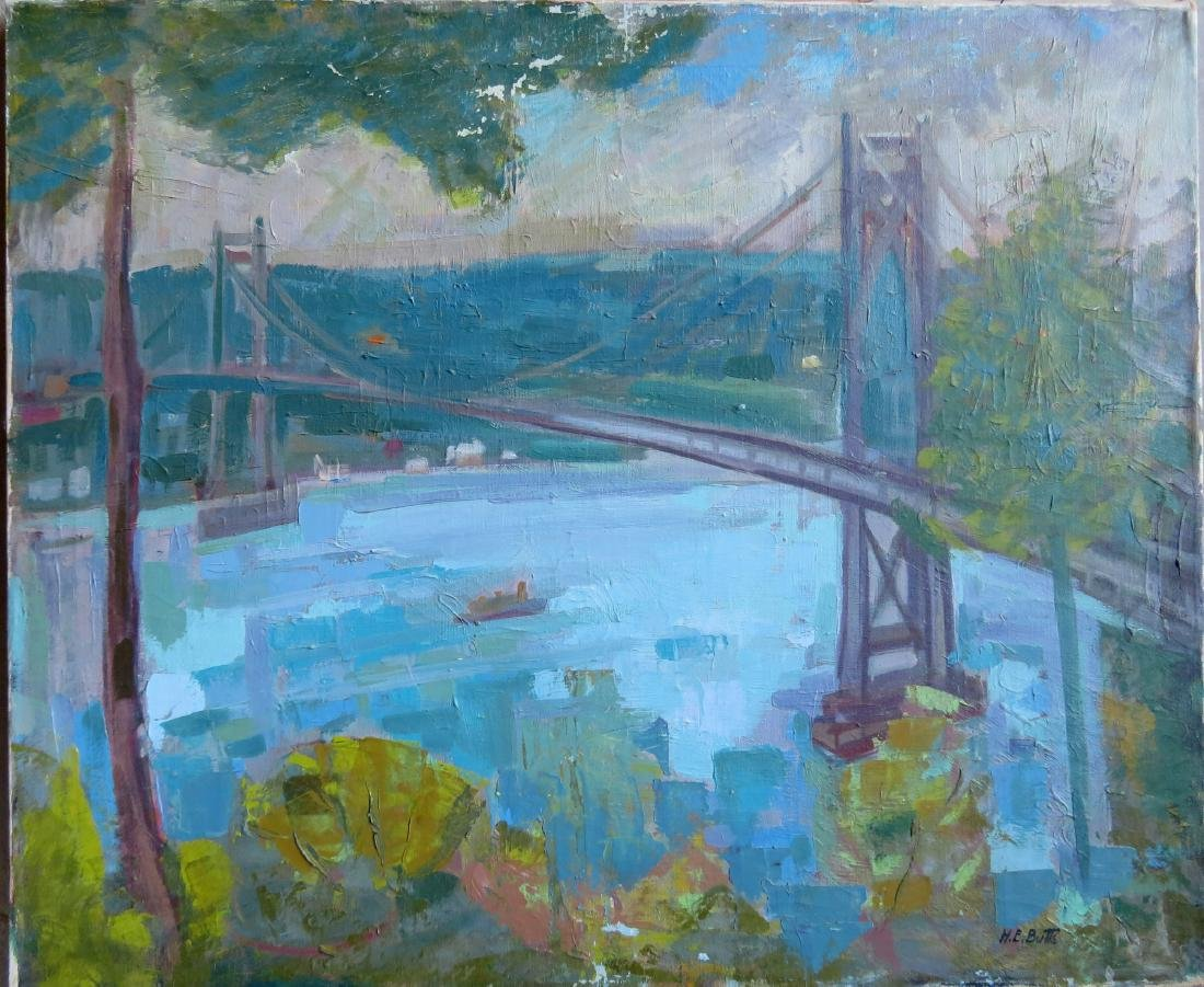 Two Poughkeepsie NY impressionist paintings signed by - 7