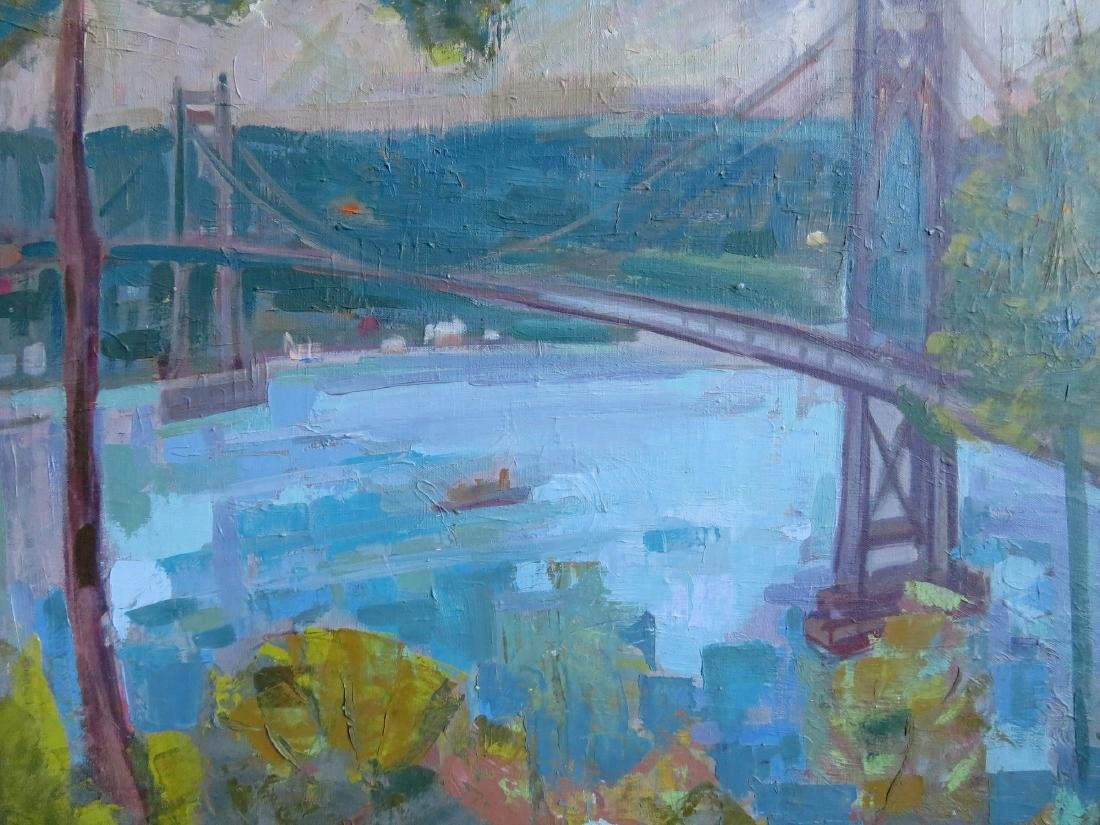 Two Poughkeepsie NY impressionist paintings signed by - 8