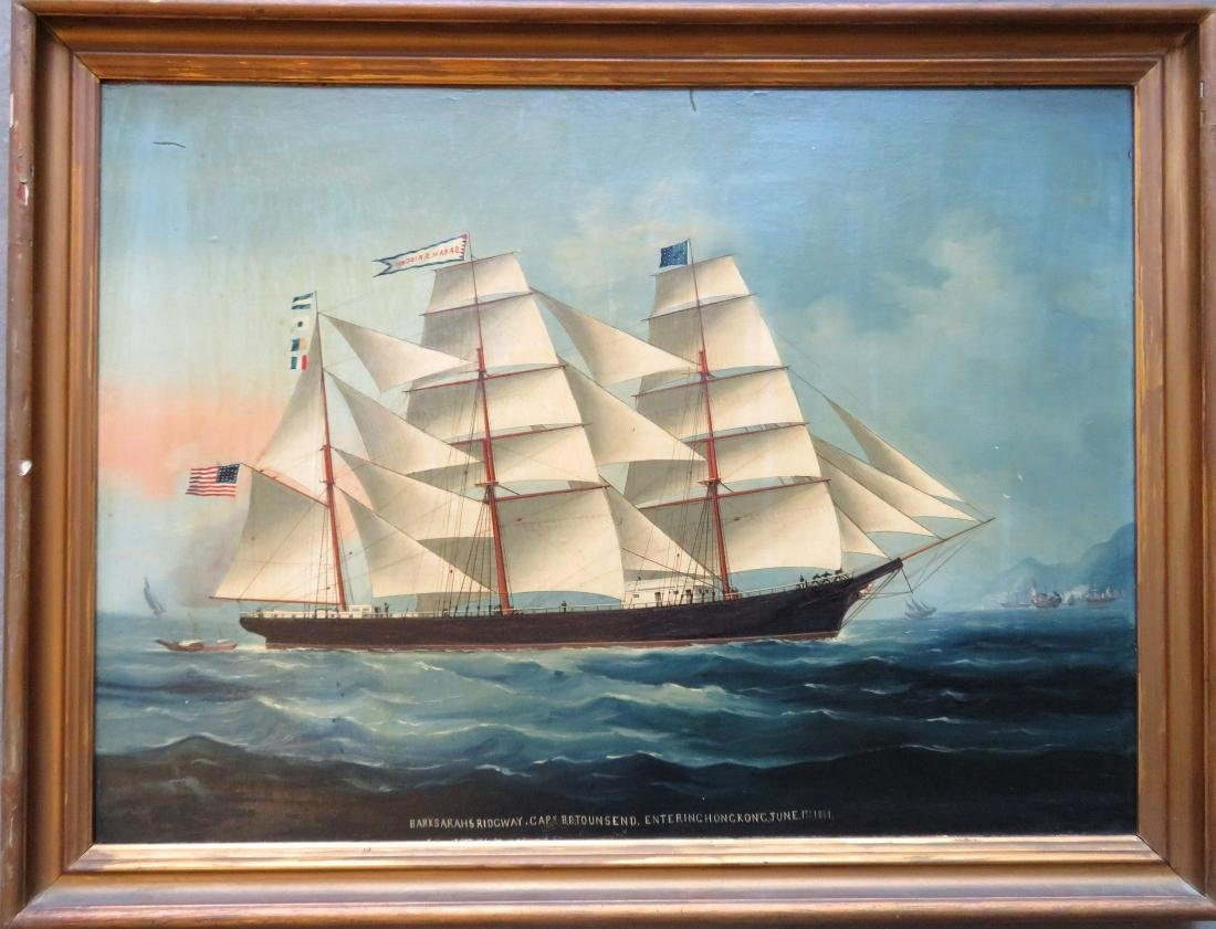 China trade portrait of an American schooner